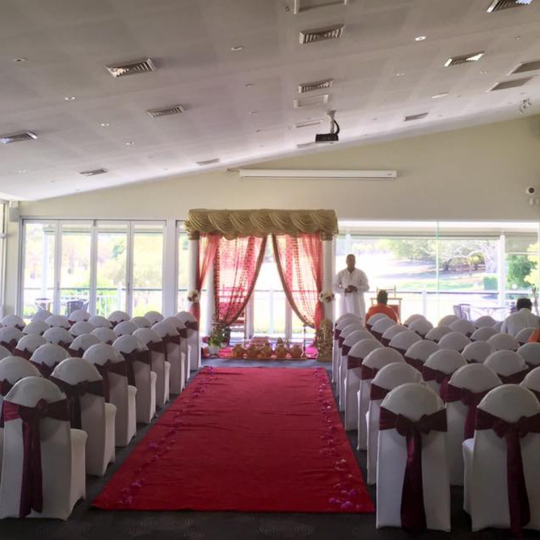 Indoor Wedding Aisle
